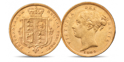 Queen Victoria Young Head Gold Half Sovereign
