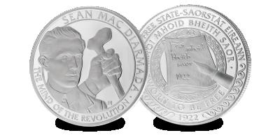Sean MacDiarmada Silver Plated Medal