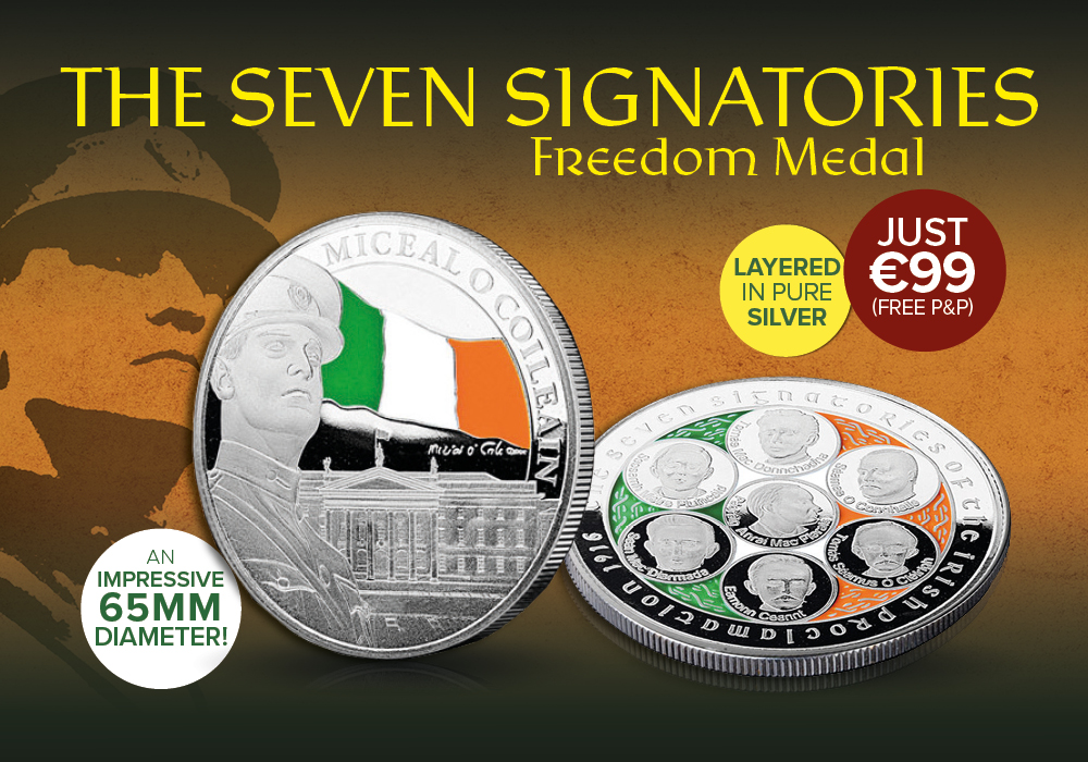 Seven Signatories 65mm Silver Plated Commmemorative Freedom Medal