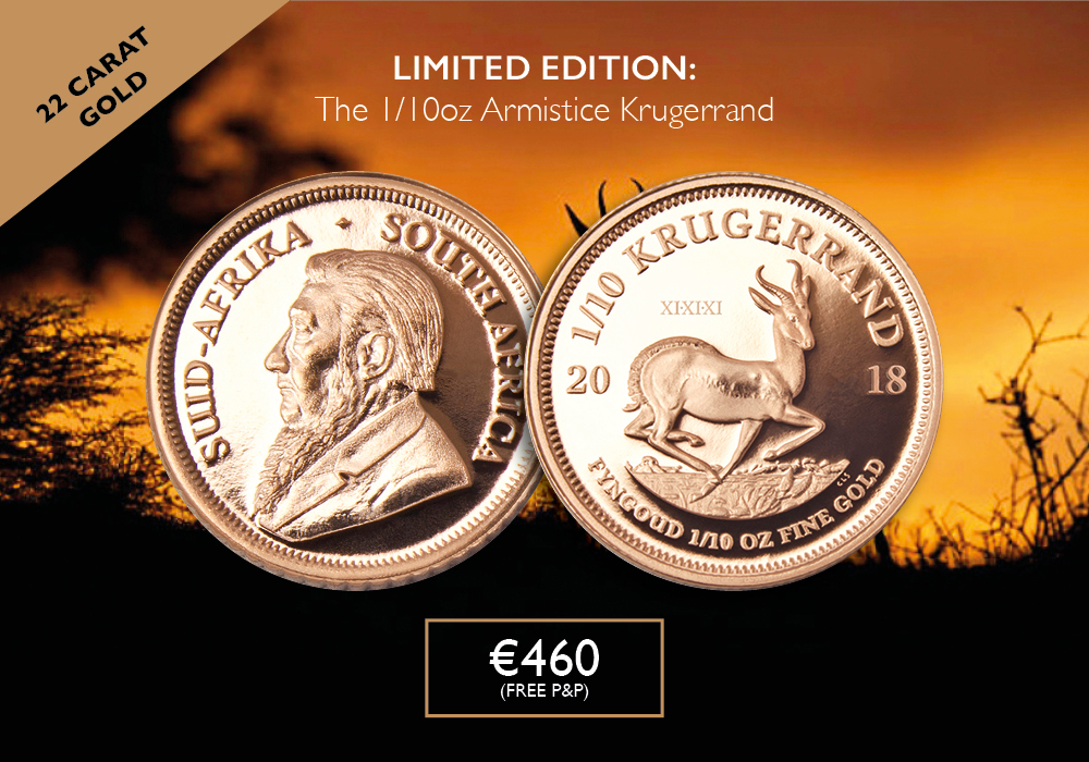 1/10oz. Krugerrand 2018 | The Dublin Mint Office