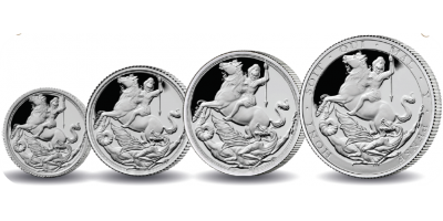 The World's First Silver Sovereign Four Coin Set
