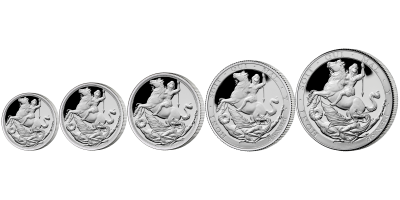 The World's First Silver Sovereign Five Coin Set