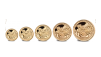 5 Coin Set St George and Dragon