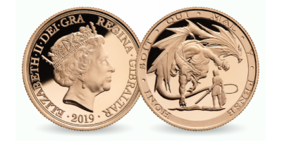 St. George & the Dragon Double Sovereign 2019 Into the Dragon's Lair