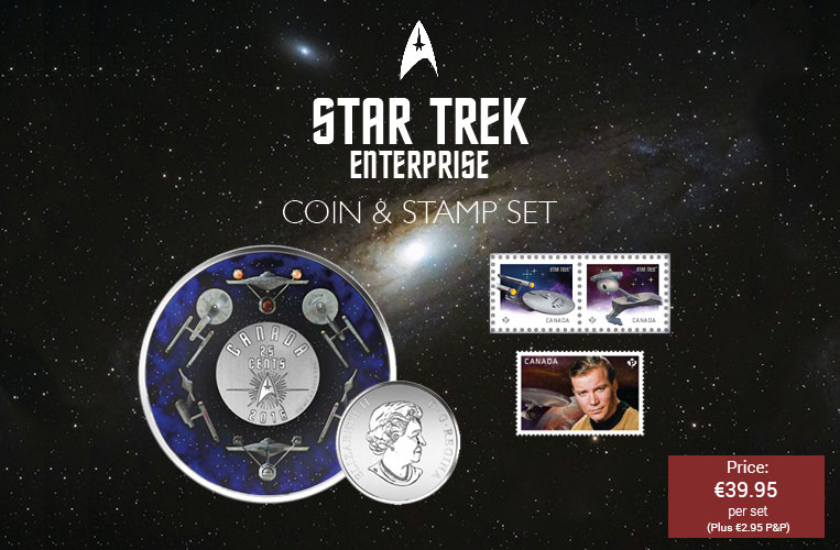 Star Trek Enterprise Colour Coin & Stamp Set