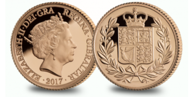 Strength and Shield Yellow Gold Half Sovereign