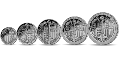 Strength & Stay Seven Decades of Devotion Five Coin Silver Sovereign Set