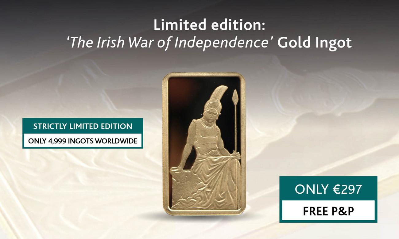 The Irish War of Independence 2.5g Gold Ingot