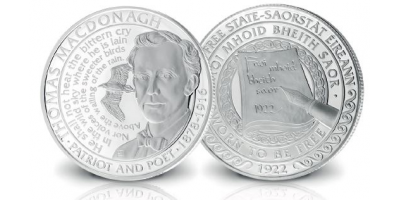 Thomas Macdonagh Silver Plated Medal