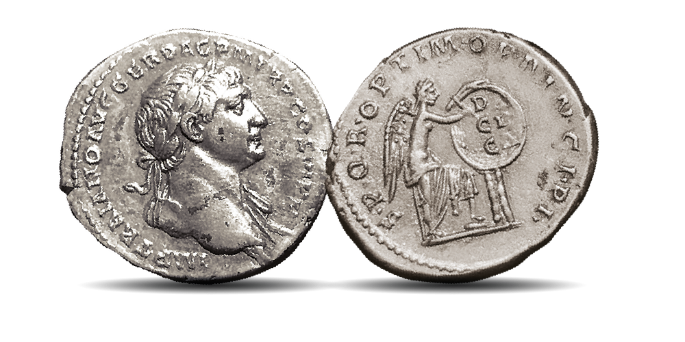 An original, circulated, silver coin from one of the greatest emperors in history!