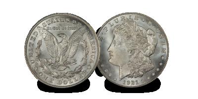 United States 1921 Morgan Silver Dollar Coin