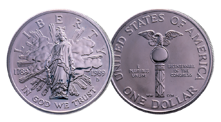 Congress_1989_US_Silver_Dollar