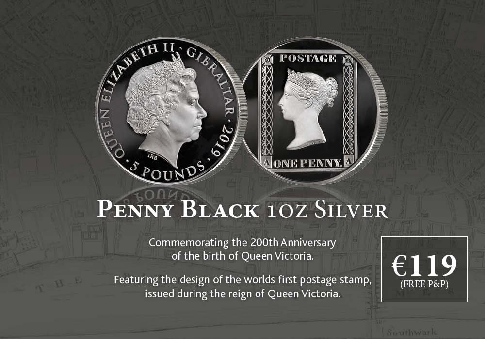 Queen Victoria 200 Penny Black 1oz Silver