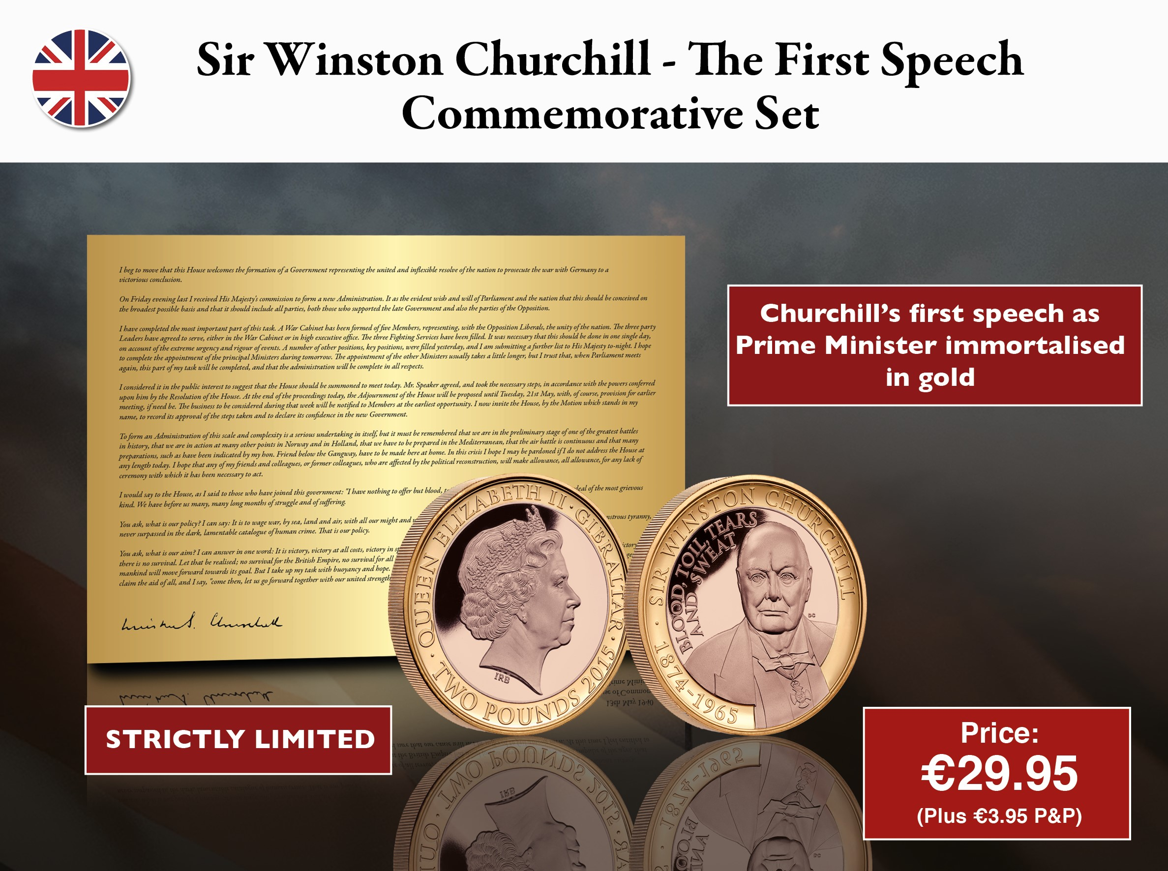 Sir Winston Churchill - The First Speech Set